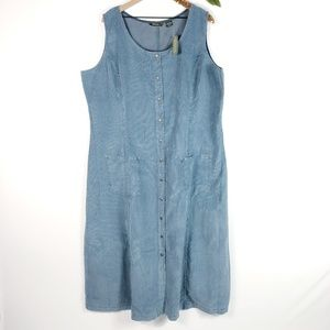 [EDDIE BAUER] Corduroy Sleeveless Maxi Dress